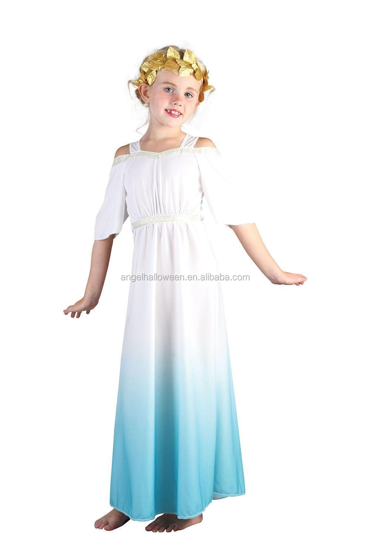 Child Girls Roman Princess Fancy Dress Costume