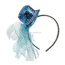 Glitter mini chapéu headband do <span class=keywords><strong>carnaval</strong></span> partido mini top hat para meninas
