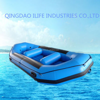 12.5ft PVC Inflatable rubber raft boats white water raft for sale