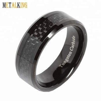 Mens Wedding Bands Tungsten.Ip Black Mens Wedding Band Tungsten Carbide Engagement Ring With Black Carbon Fiber Beveled Edge Comfort Fit View Ip Black Plated Tungsten Carbide