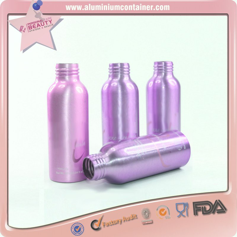 aluminum bullet round aluminum bottle with top cap