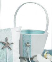 Seashell and Sand Beach Themed Flower Girl Basket