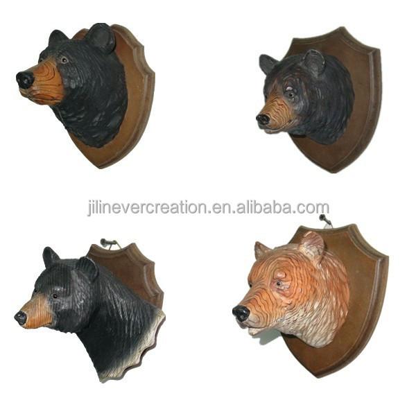 hout ambacht beer hoofd wanddecoratie dier hoofd