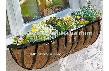 wall mounted trough planters