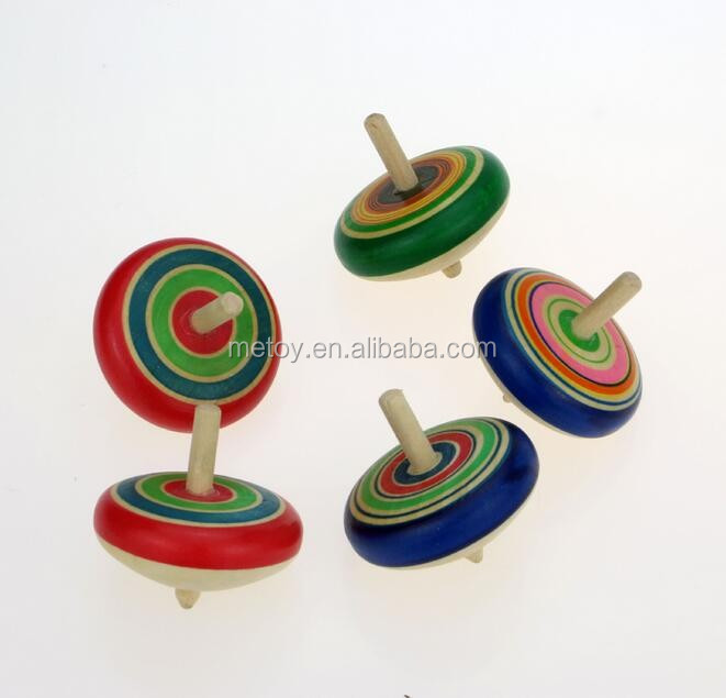 Promotion wooden peg top Hanukkah spinning top toy
