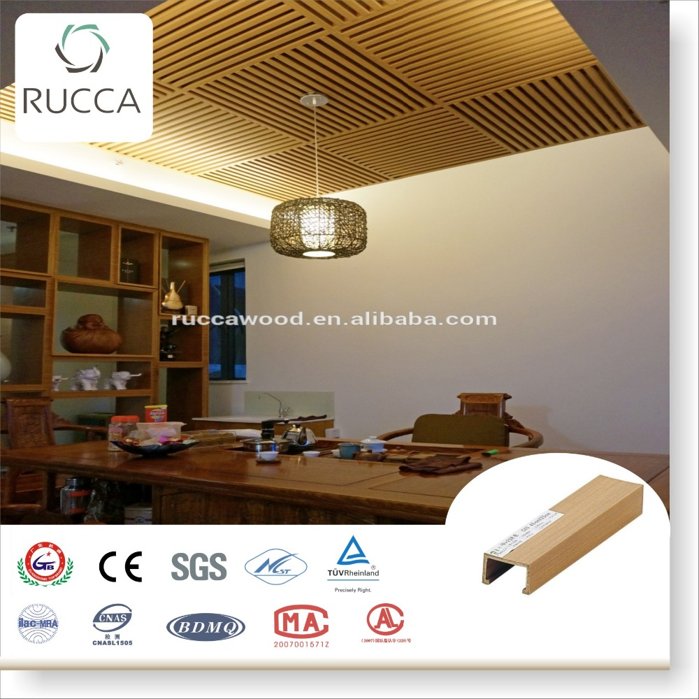 2016 WPC Wood pvc ceiling panel decoration 40*25mm fire-resistant design house Foshan Guangdong China Supplier
