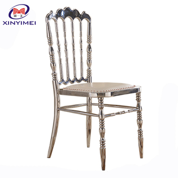 Royal Stackable Wedding Napoleon Stainless Steel Chairs