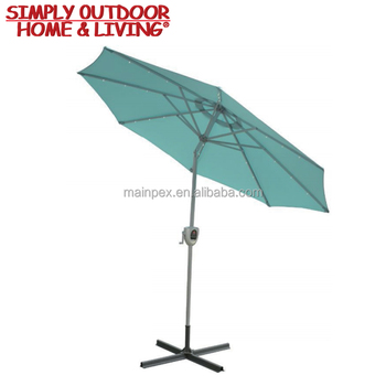 High Quality Patio Standing Outdoor Umbrella Parts New Design Canvas Parasol Luxury Beach With Crank