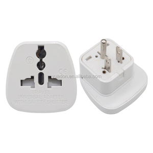 CE RoHS universal convertor to 3 pin usa travel adapter plug for traveller to US / North America Canada