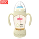 albo brand 2018 new design albo brand factory manufacture double handle baby feeder bottle smart voice music baby feeding bottle