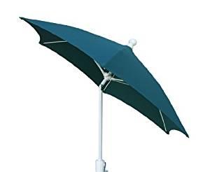 Get Quotations · FiberBuilt Umbrellas Patio Umbrella With Push Button Tilt,  7.5 Foot Forest Green Canopy And