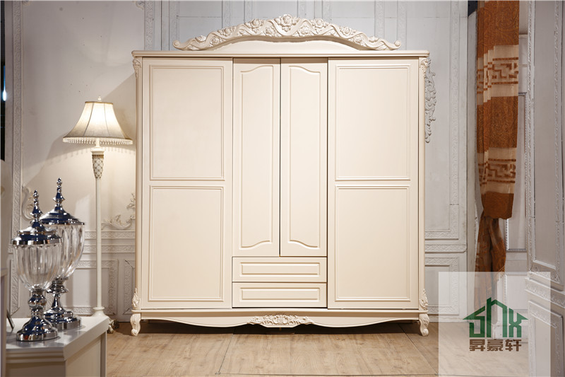 French Style Antique bedroom furniture HA-913# wooden wardrobe ...