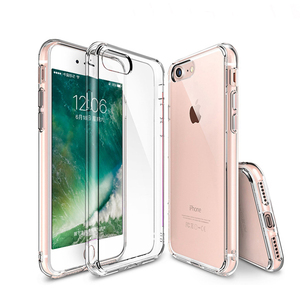 2018 new coming transparent TPU bumper actual white PC back cover case for iPhone 7 5.5""