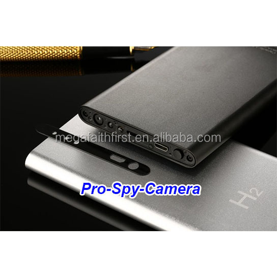 2017 hot sale full HD 1080P audio detection IR light 5000mAh power bank hidden camera
