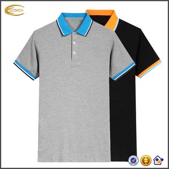 84ff153e08414 Ecoach high quality Burgundy button down collar Pique solid 100%cotton mens  polo t shirt