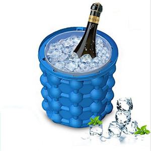 NEW Ice Cube Maker Genie Silicone Ice Cooler Bucket,Space Saving Ice Genie Maker