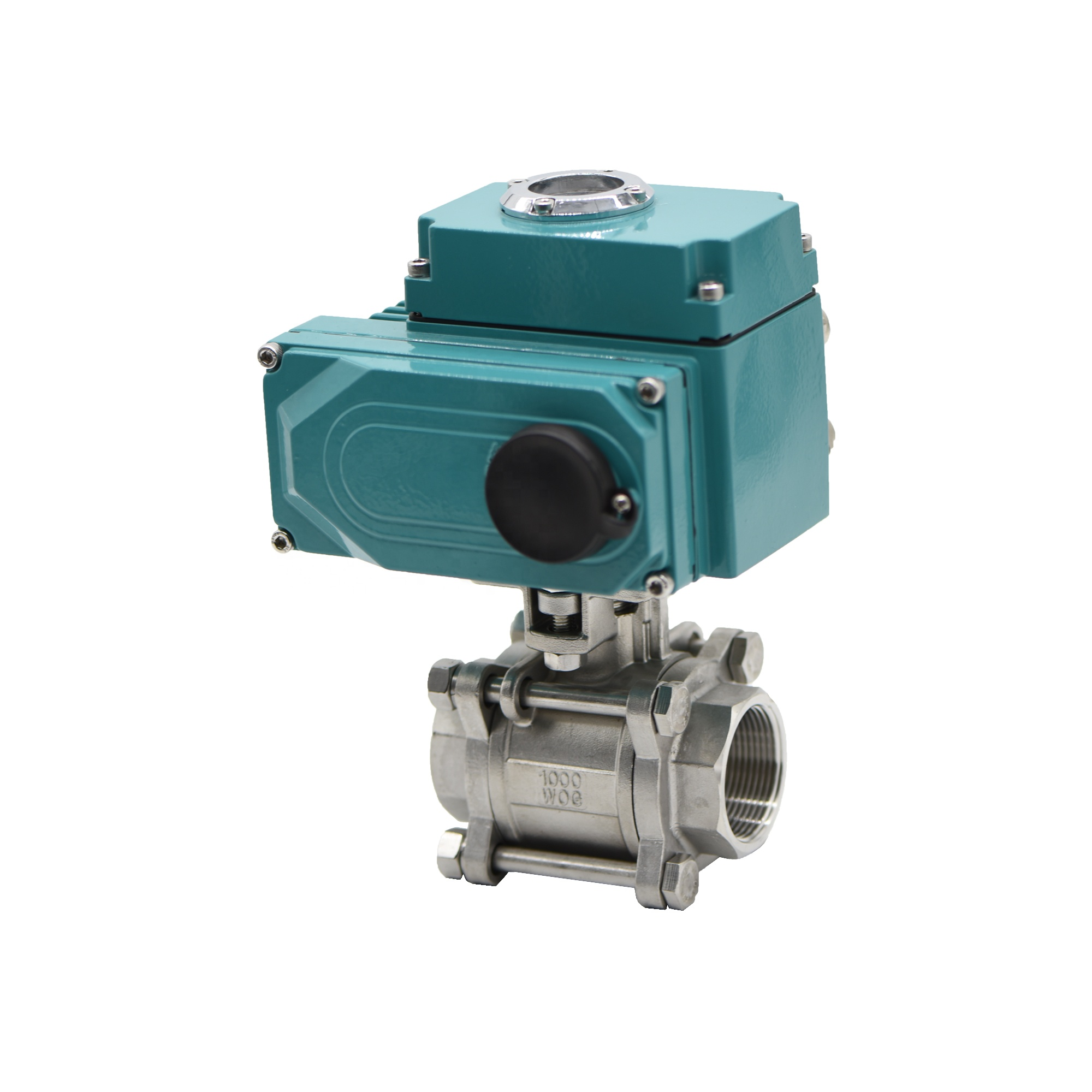 ISO5211 Stainless Steel 3 Piece Ball Valve With HEA Series Quarter Turn Electric Actuator