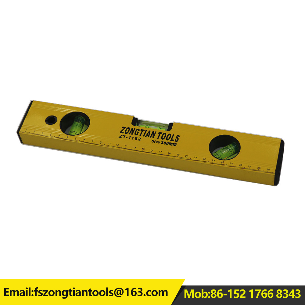 China manufacturer spirit level aluminium ruler