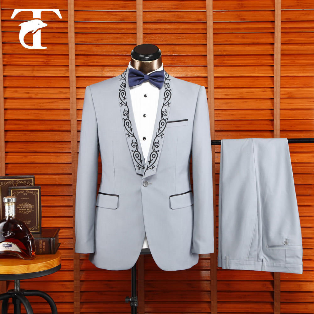White Color Men Suit Fashion Customized Tuxedo Men Suits For Wedding ...