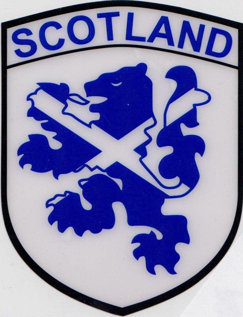 Scotland Scottish Saltire Flag on Lion Rampant Vinyl Car Sticker