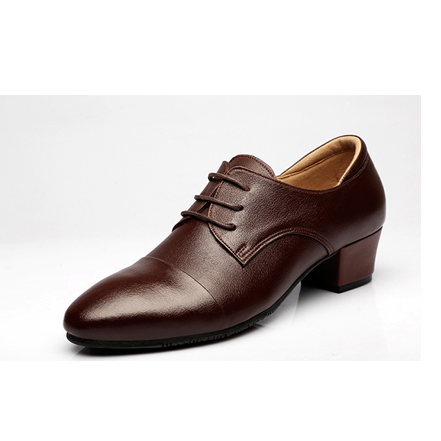 Classic Genuine Leather Man Latin Shoes Wholesale Leather Latin Dance Shoes For Boys Ballroom Dancing Shoes