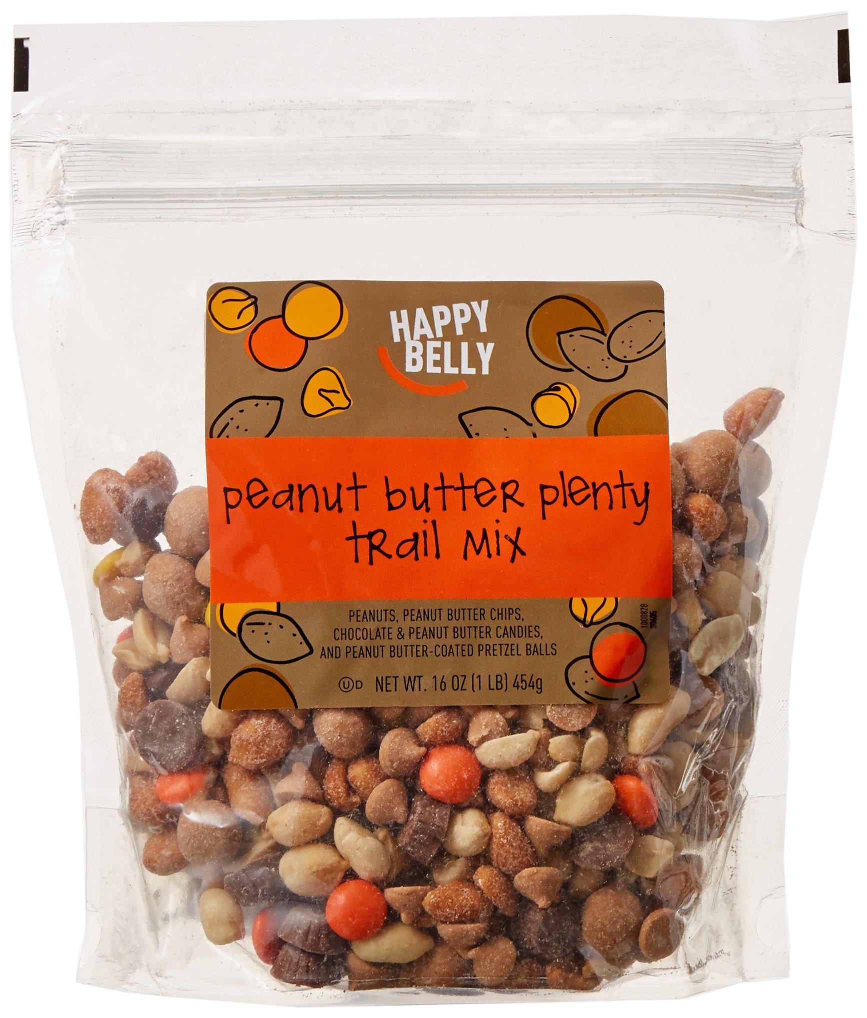 Amazon Brand - Happy Belly Peanut Butter Plenty Trail Mix, 16 ounce