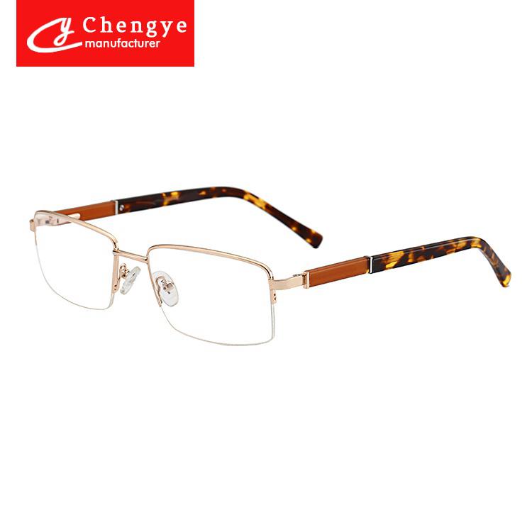 0e7a7997b4a Classical style half-rim stainless steel eye glass frame optical frames