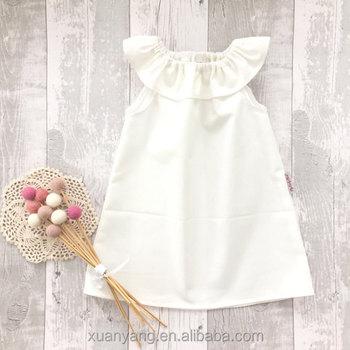 Wholesale Plain Custom Baby Clothes Dress Kids Frock Designs