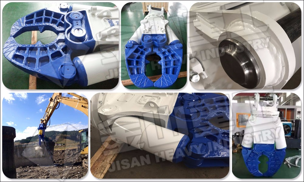 Demolition machine wider jaw hydraulic pulverizer, excavator concrete pulverizer