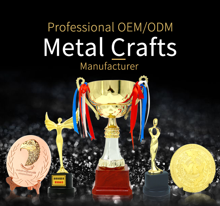 Wholesale cheap custom award metal gold trophy cup