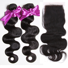 factory best sell product wholesale price body wave 10a peruvian hair virgin hair bundles with lace closure
