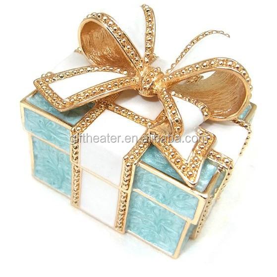 Diamond Jewelry Box Tin Heart Trinkets Crafts Diamond Ring Box