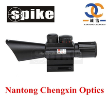 SPIKE Optics 4x30mm Tactical Dual illuminated Fast Focus Rifle Scope with Red Dot Laser Sight for Hunting Rifles
