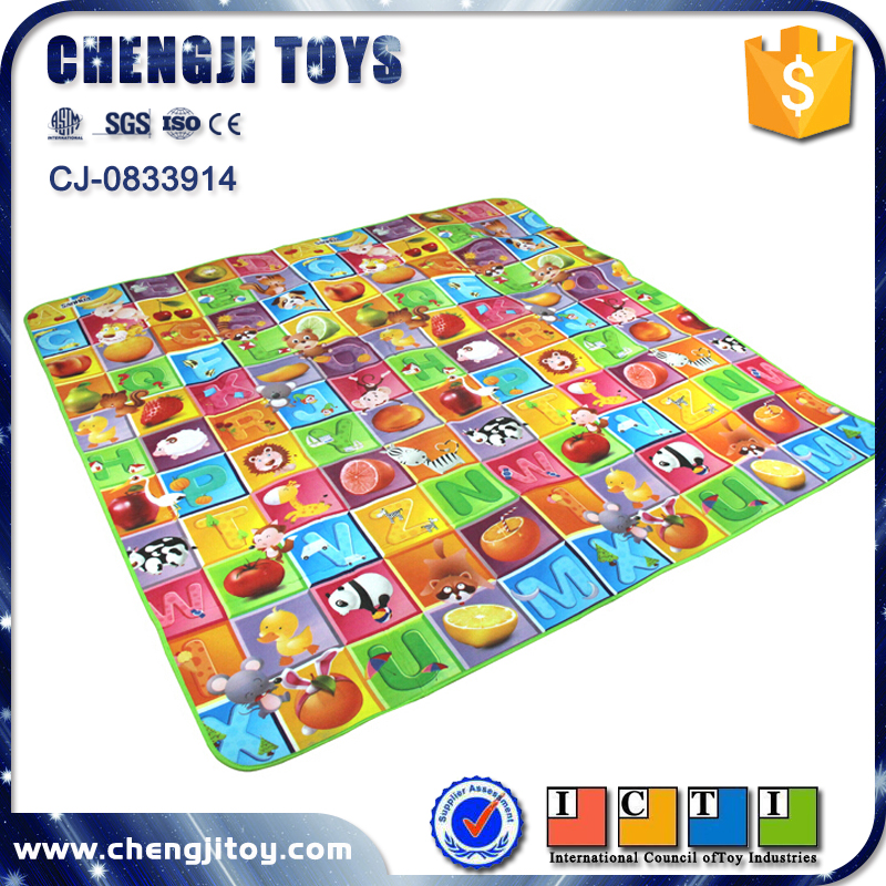 Funny educational 180*200cm baby pvc play mat