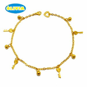 factory anklet wholesale, women anklet foot jewelry, gold plated anklet