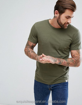 a47f5eb0 Mens 100 % cotton olive green scoop neck muscle fit customized wholesale t  shirt