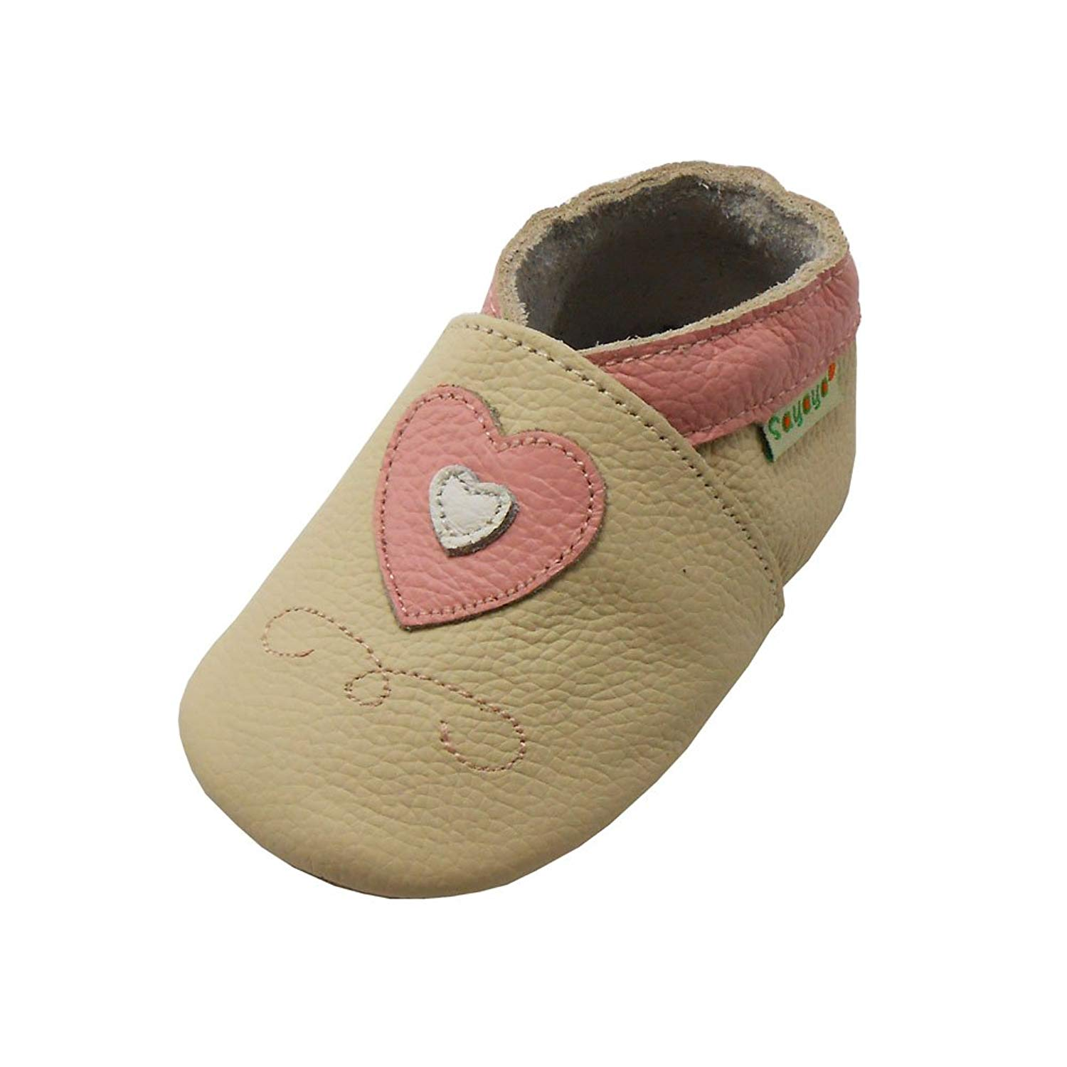 Sayoyo Baby Cute Mushrooms Soft Sole Leather Baby Shoes Baby Moccasins