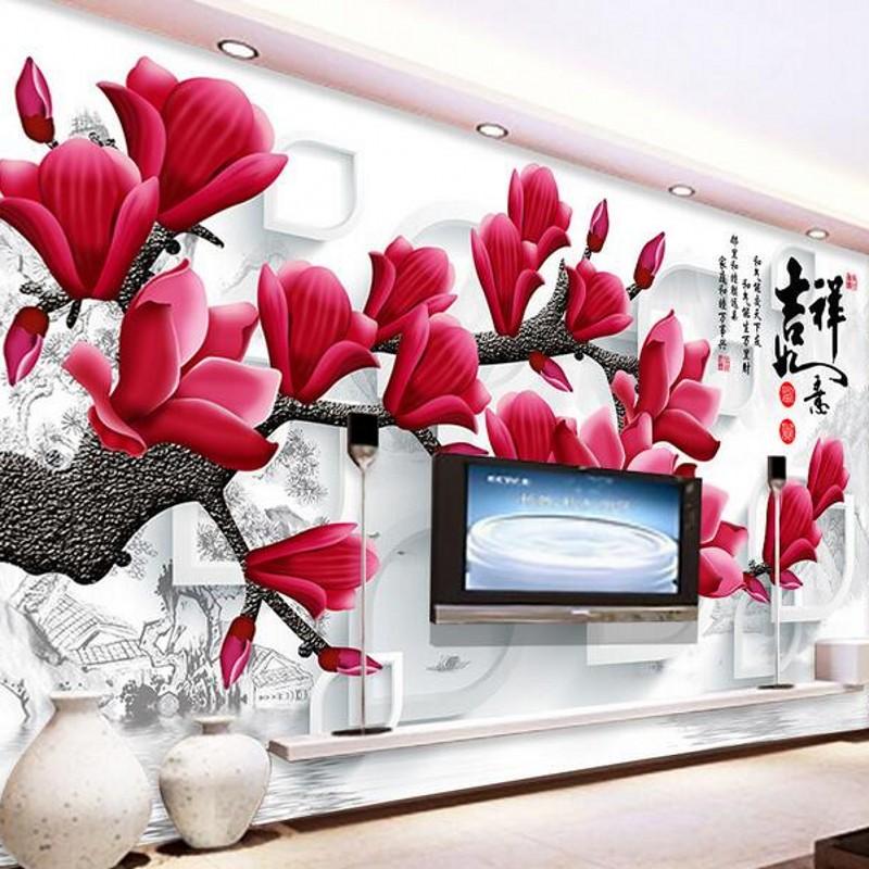 magnolia tapete kaufen billigmagnolia tapete partien aus china magnolia tapete lieferanten auf. Black Bedroom Furniture Sets. Home Design Ideas