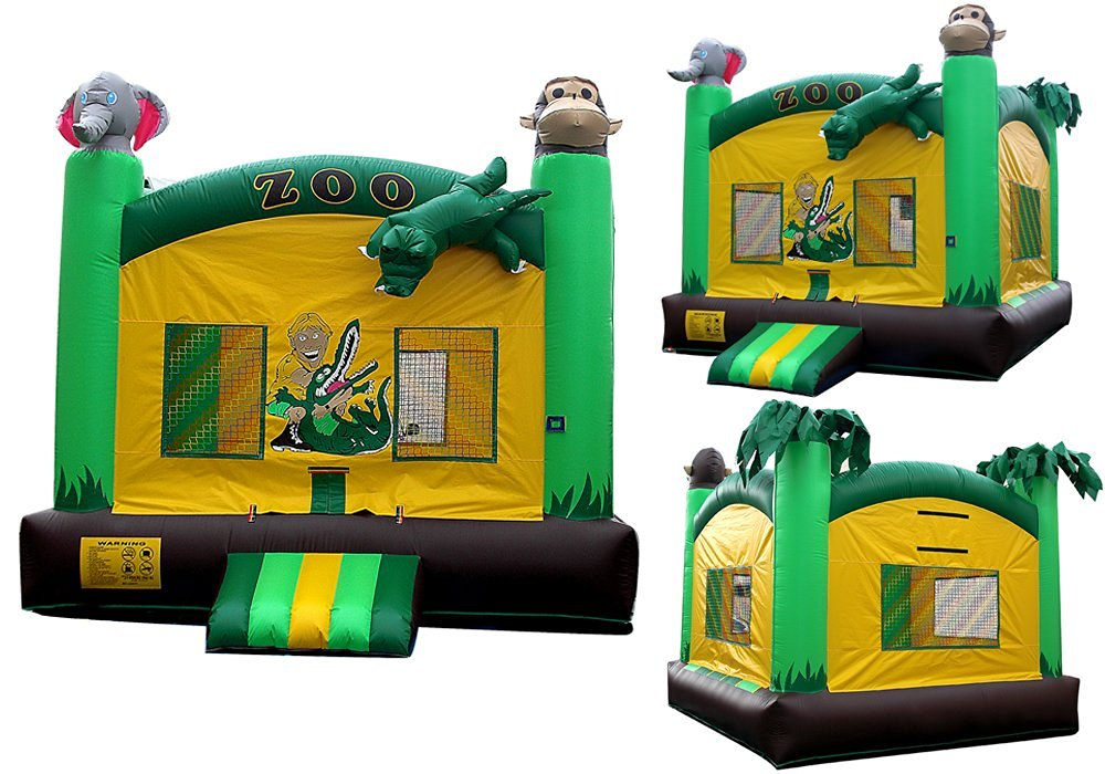 Bounce House Big Zoo Inflatable Jumper Inflatable Bouncy House for Commercial