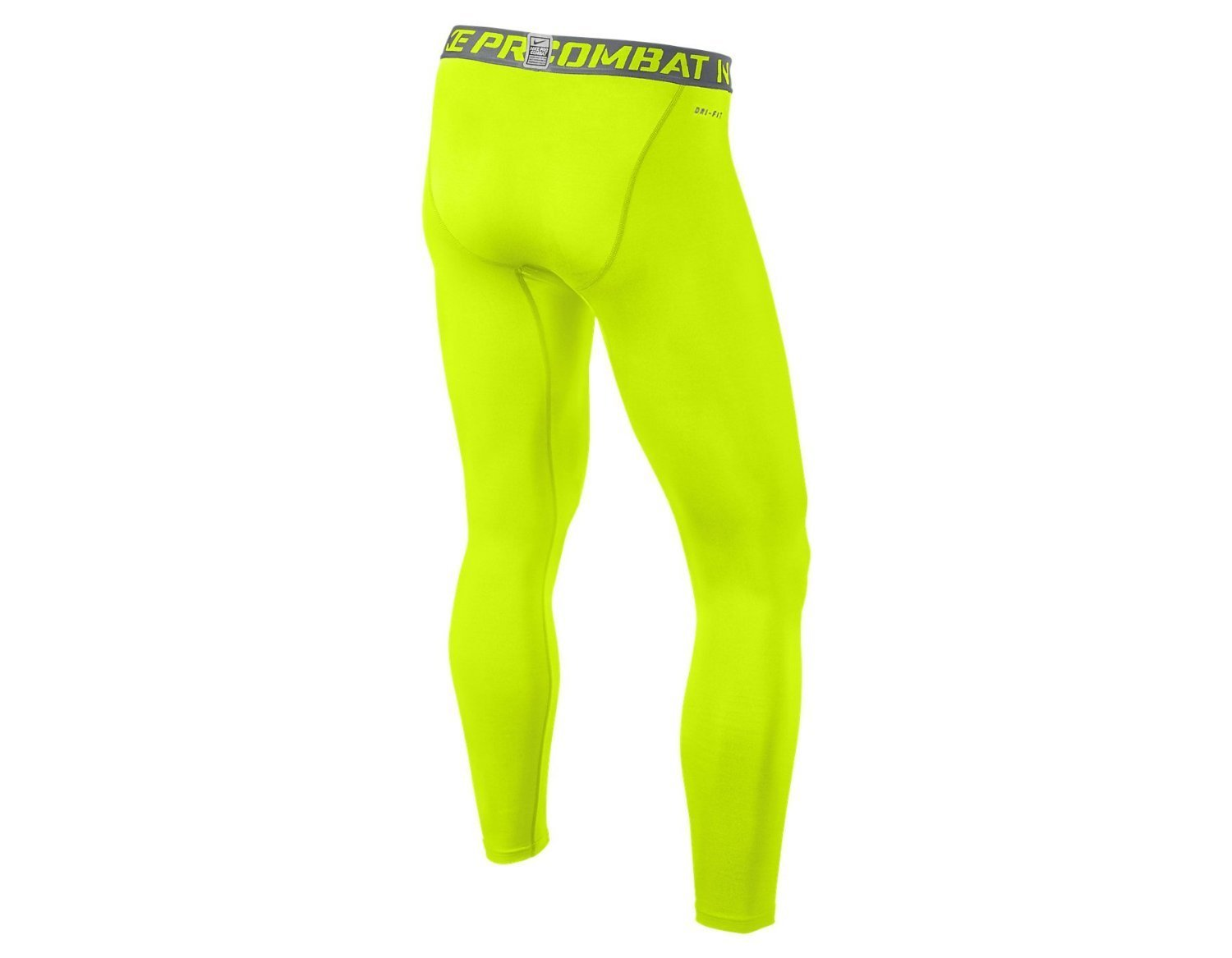 Nike Pro Combat Hypercool Men's Compression Tights Neon Yellow Small