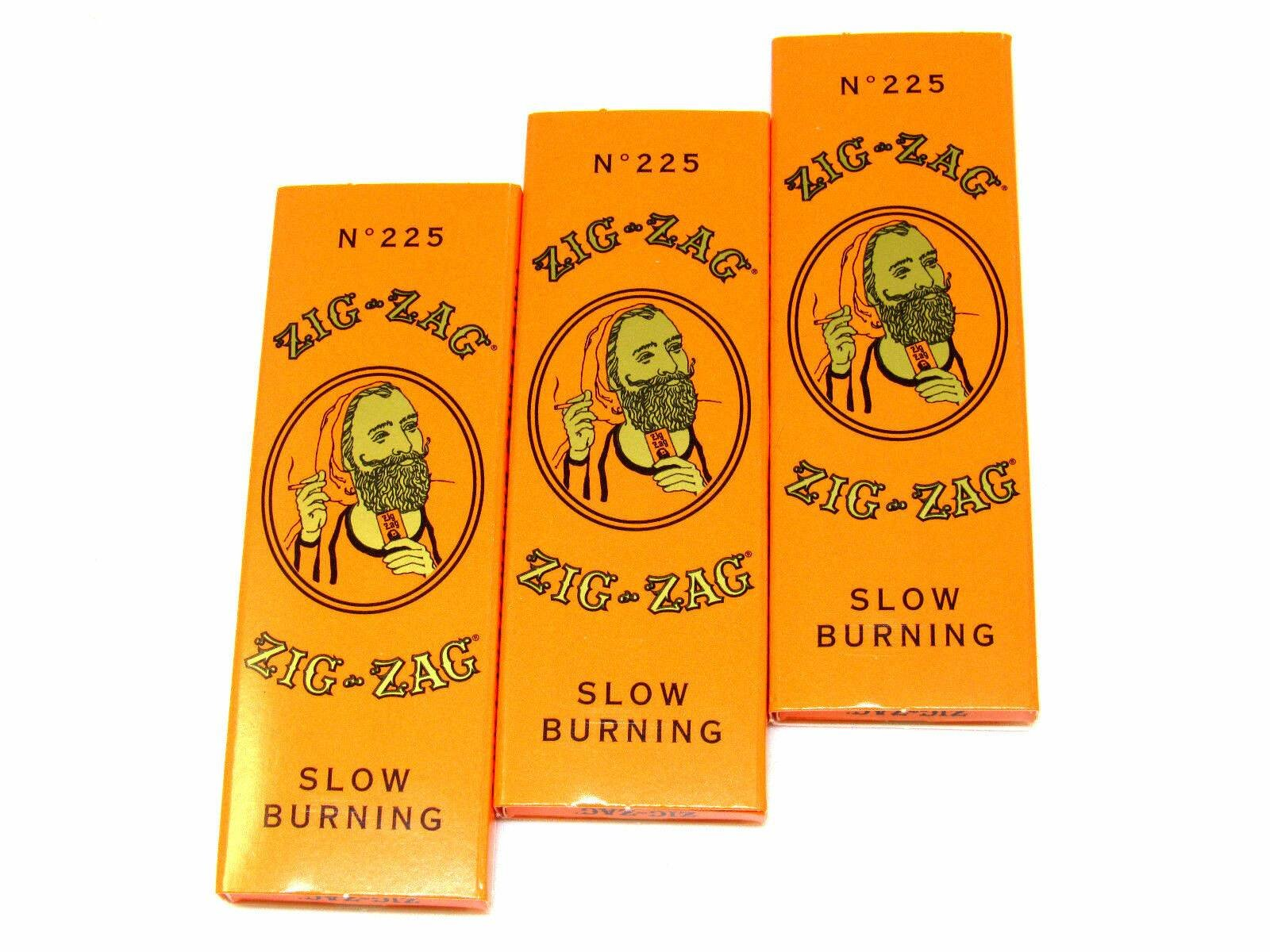 3 Packs Zig Zag Orange Rolling Papers - 32 Papers a Pack-1 1/4