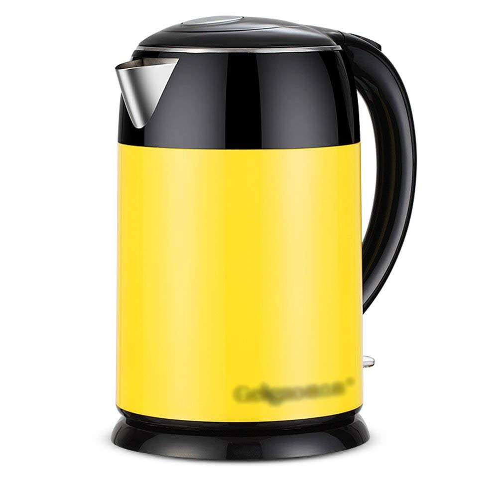 FTM Electric Kettle, 2.0L 1800W Household Kettle, Automatic Power Off, Anti-drying, Yellow