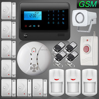 Good Quality RFID App Controlled Intelligent GSM Anti-Theft Home Security Alarm System with Wireless Gas Detector