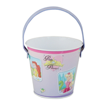Christmas Gift Children Toys Small Tin Bucket With Window