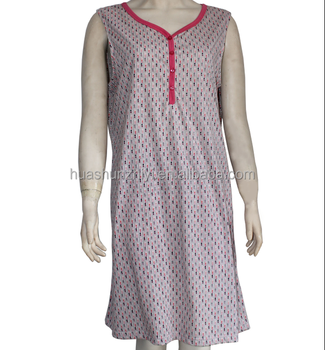 Wholesale Oem Women Short Sleeve Summer Dressing Gown Nightgown