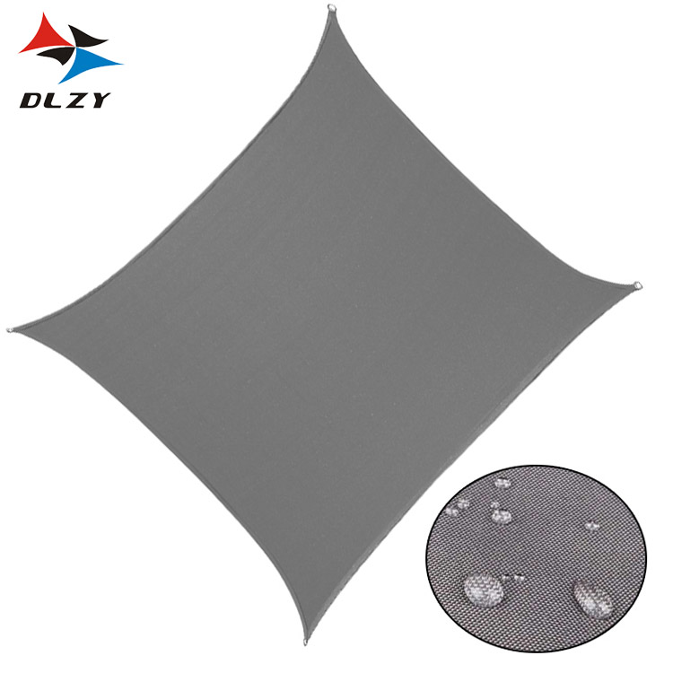 Low Price Fashion 5*5m Polyester Outdoor Waterproof <strong>Sun</strong> Shade Sail for Wholesale