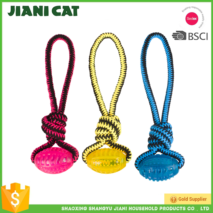 China pet supply tear -proof rope TPR dog toy