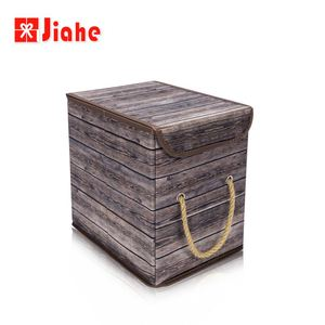 Wood grain perfect quality basket toy storage box