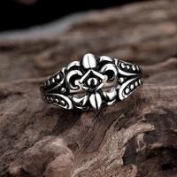Tryme Newest Gothic Men's Biker Titanium Steel Ring Fashion Black Skull Cool Man Finger Rings for Men Wedding Rings Size 8 9 10