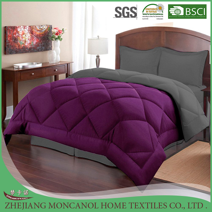 3 Piece Reversible Polyester Microfiber Ngỗng Xuống Alternative Comforter Set